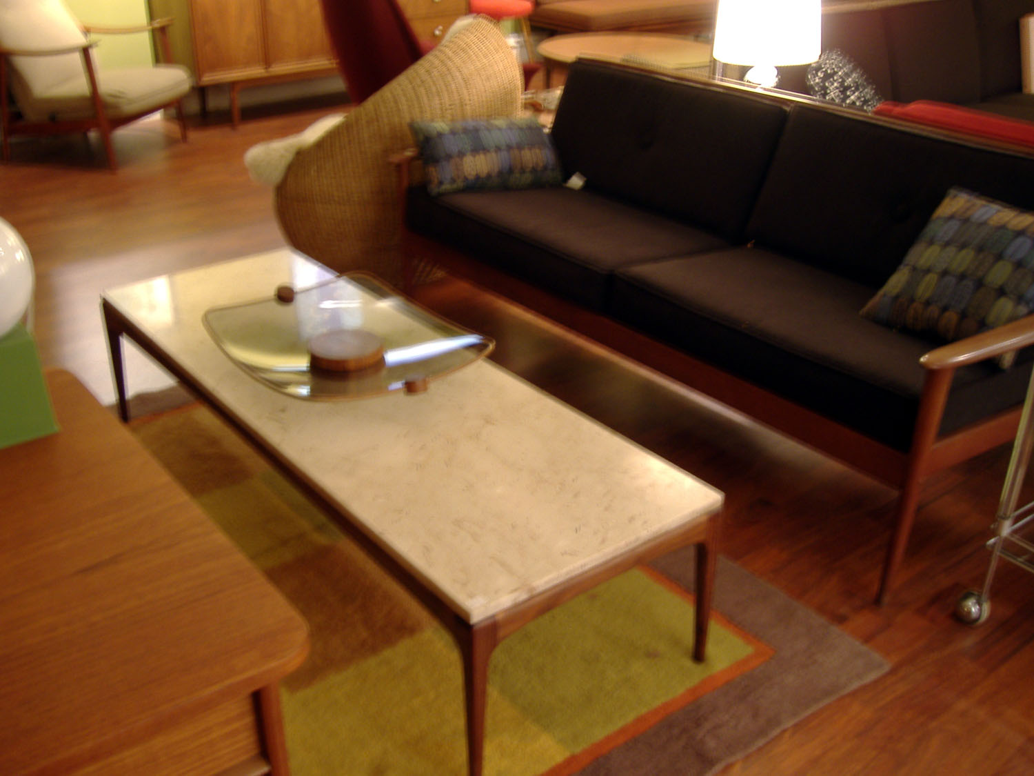 Mid Century American Danish Modern Meets International Style Similar To Knoll Marble Top Tables