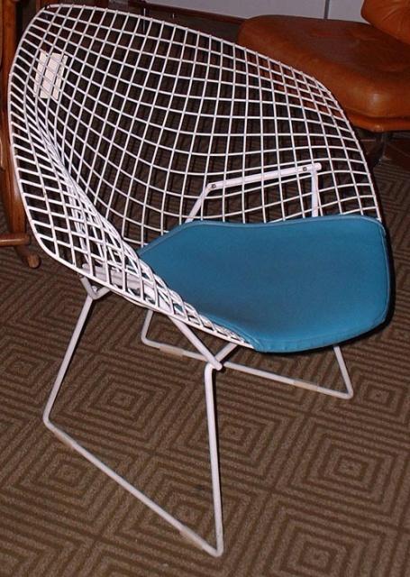 Gallery Sold Seating Bertoia W Teal Pad