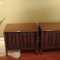 Pair of danish modern side tables/nitestand w/ open storage inside. -  SOLD