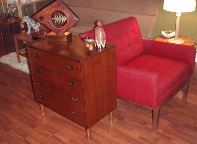 Petite danish modern teak dresser, perfect as end table, nite stand or console table. - SOLD