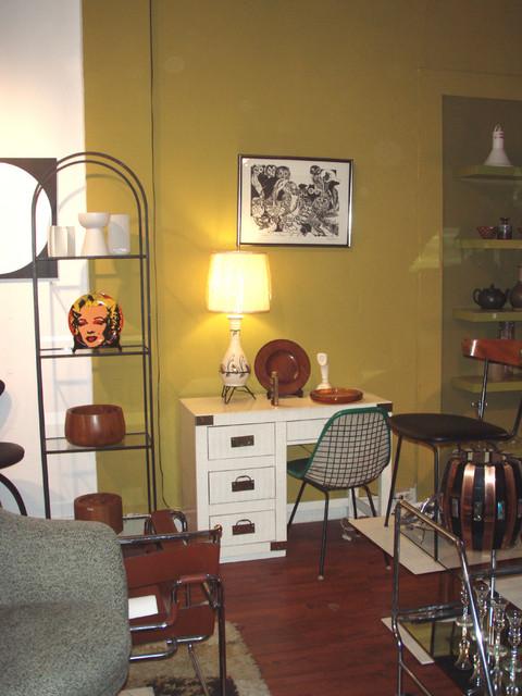 """Campaign style desk in white w/ brass hardware ala Kelly Wearstler - 40""""W x 18""""D x 30.5""""H.    SOLD"""