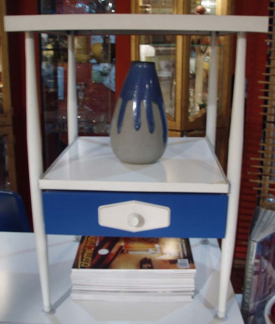 "Mod, Mondrian mid century side table nitestand century desk, dresser SET ""Brady bunch style. 