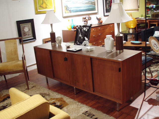 6ft Mid Century Modern Florence Knoll Credenza; Florence Knolls pieces adapt flawlessly to any environment, with their clean, linear design and incredibly durable, high-quality construction.