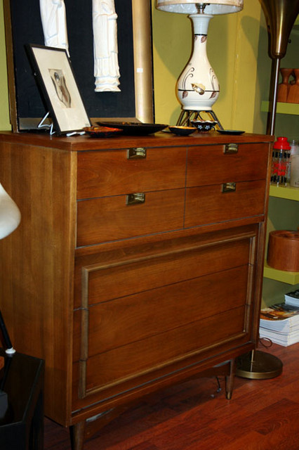 high boy detailed dresser with inset hardware