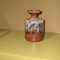 Raku vase in brown-toned marbleized glaze, $45.00