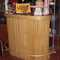 Vintage bamboo tiki bar w/ wood look laminate top & storage shelves in back $750.00 (SALE $525) ON HOLD 12/3/07 PLEASE EMAIL sales@retroathome.com  for more info.