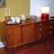 """Mid-Century modern walnut credenza/dresser by Drexel, lots of storage: right side has (4) drawers with original ceramic hardware/pulls, left side has (2) doors that have 6 more concealed drawers! 66""""x 20""""x 27""""  $1295.00   SOLD"""