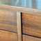 """view 5, CLOSE UP detail of drawer; small scrape to veneer on right drawer bank (left inside """"side edge"""") 1/2""""-this is hardly noticeable and does not detract from overal beauty of piece!"""