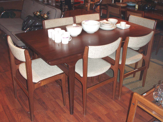 Danish Modern Dining Room Table Chairs Leetszonecom