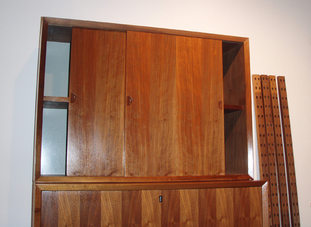 """cabinet 1. has removable slider doors and stationary shelf inside. cabinet 1 measures: 31 1/2""""W x 22""""H x 10""""D  FREE SHIPPING within the Continental USA-if purchased by 6/24/07"""