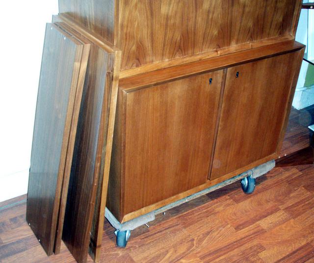"""(2) 12"""" deep shelves (2) 18"""" deep shelves"""
