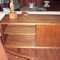 Vintage teak credenza with slider doors and removable shelves, slim lines and clean styling fit all spaces $1695.00