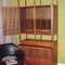 Vintage American danish modern wet bar by Lane/Altavista company in walnut. Plenty of storage behind the pair of double doors and a slide out counter black laminate shelf/counter top to mix your favorite cocktail $795.00