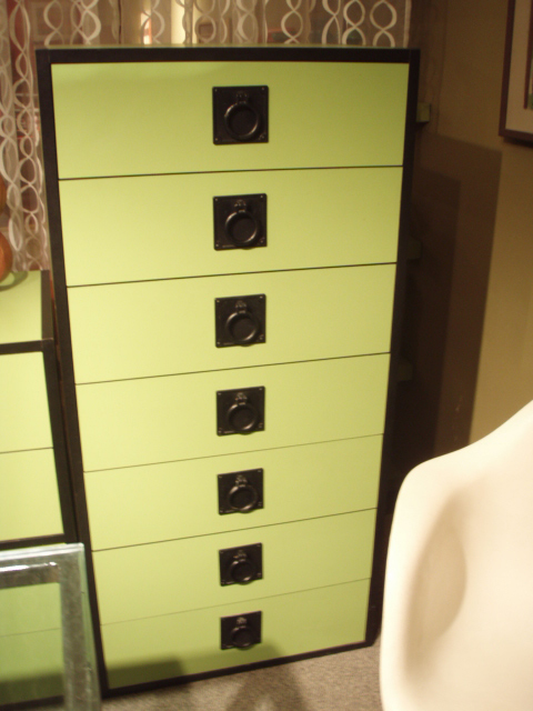 """Mod Op tansu/dresser/storage ala Kelly Wearstler, straight out of '71 Better Homes and Gardens...$795.00 sold as set    (1) side table, w/ lock and key, 2 drawers, 25""""W x 17""""D x 16 3/4""""T  (1) medium unit, 4 drawers,  49""""W x 17""""D x 16 3/4""""T  (1) Tall dresser, 7 drawers,  25""""W x 17""""D x 52""""T  these can be stacked or used separately"""