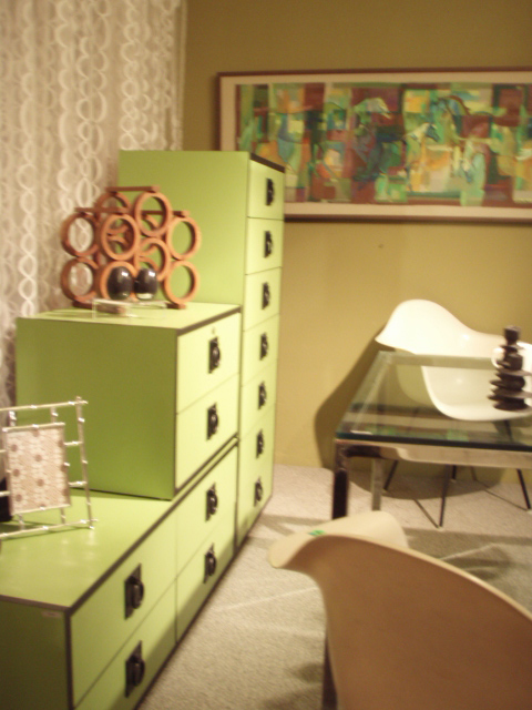 """Mod Op tansu/dresser/storage ala Kelly Wearstler, straight out of '71 Better Homes and Gardens... $795.00 sold as set  (1) side table, w/ lock and key, 2 drawers, 25""""W x 17""""D x 16 3/4""""T  (1) medium unit, 4 drawers,  49""""W x 17""""D x 16 3/4""""T  (1) Tall dresser, 7 drawers,  25""""W x 17""""D x 52""""T  these can be stacked or used separately"""