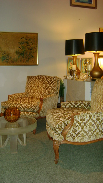 Pair of Vintage Regency arm chairs $2500.00 pair