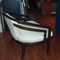 Vintage Hollywood Regency/Asian Fusion chair in ebonized mahagany  manner of William Haines (original fabric silk shantung, foam is petrified)$2200  SKU# F0069