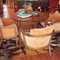 "Set of 4 mid century modern danish walnut barrel chairs mfg by Thayer Coggin,designed by to Milo Baughman original tags c.1961 in  original pumpkin colored fabric. 28""w x28""d x28""h sold as set $2800 set of 4   SKU# F0068"