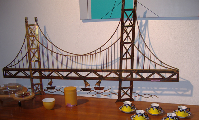 Jere Styled Metal Wall Art San Francisco Bay Bridge Sold