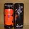 """Vintage Sneaky Tiki Mug with black background, orange tiki, and torch, made especially for Harvey's, Lake Tahoe Hotel & Casino, stands 7""""H  $30.00ea (6 available)  (2 available w hairline cracks) $10.00ea"""