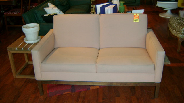 Vintage Steelcase love-seat $1295.00, newly reuplostered in woven fabric, Call 510.435.4710