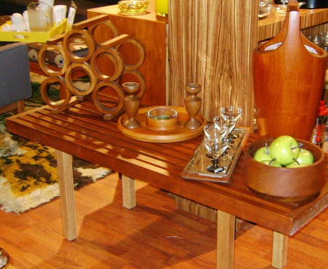 Mid century modern Nelson Style bench.  Measures 48 inches long, 18 inches deep, 17.75 inches high. $495. SKU# SE0096